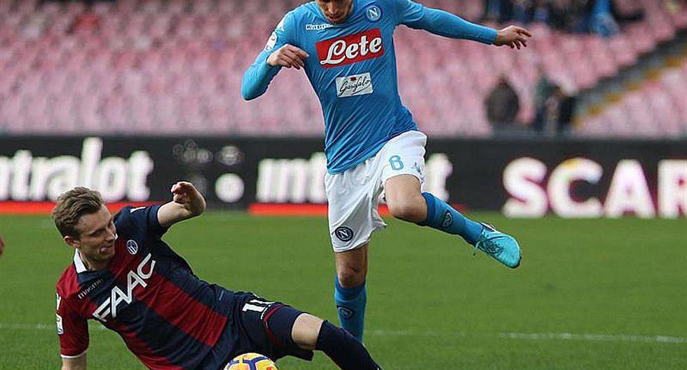 Nápoles recupera liderato en la Serie A con 3-1 sobre Bolonia