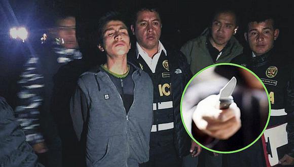"""""""Loco del cuchillo"""": sujeto hería en la yugular a transeúntes en Huaraz"""
