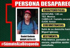 Joven con autismo se encuentra desaparecido tras salir de su casa en San Juan de Miraflores