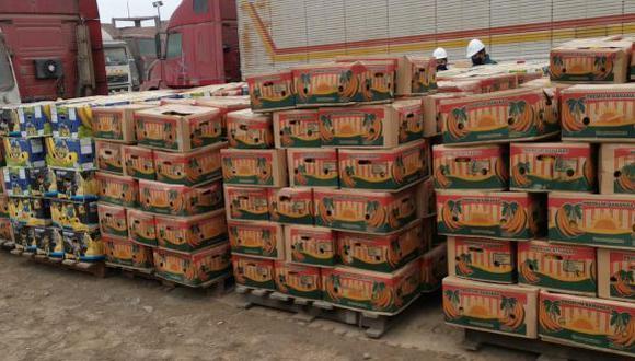 En total se incautaron 661 cajas conteniendo esta fruta, conocida por sus múltiples propiedades. (Foto: PNP)