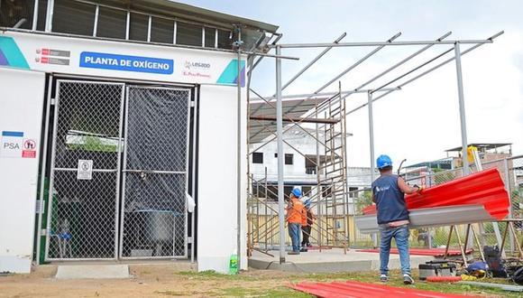 Junín: se tiene previsto poner en funcionamiento la nueva planta de oxígeno medicinal el próximo jueves 4 de marzo. (Foto: Proyecto Especial Legado)