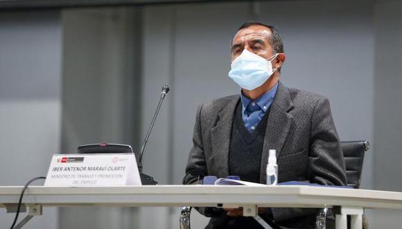 Maraví se presentó ante el Congreso para responder a las preguntas del pliego interpelatorio. (Foto: MTPE)