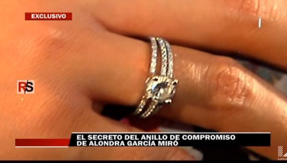 Alondra García Miró: ¿Cuánto costó su anillo de compromiso? [VIDEO]