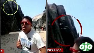 El preciso instante en que un bombero cae por acantilado cuando practicaba deporte extremo en Chorrillos