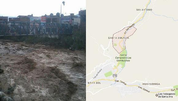Huaico en Santa Eulalia: estas son las imágenes más impactantes (FOTOS + VIDEO)