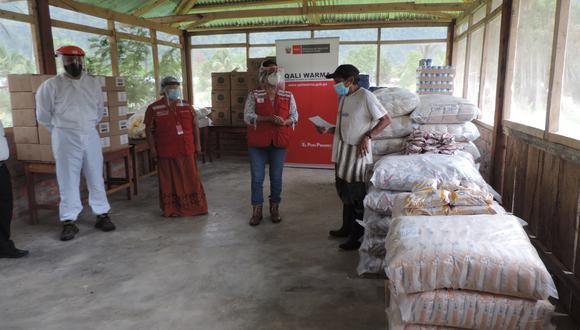 Junín: 915 toneladas de alimentos fueron entregados para 68 comunidades nativas del Vraem (Foto: Qali Warma)