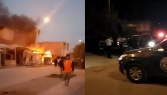 Piura: menor de edad muere en balacera con incendio durante toque de queda | VIDEO