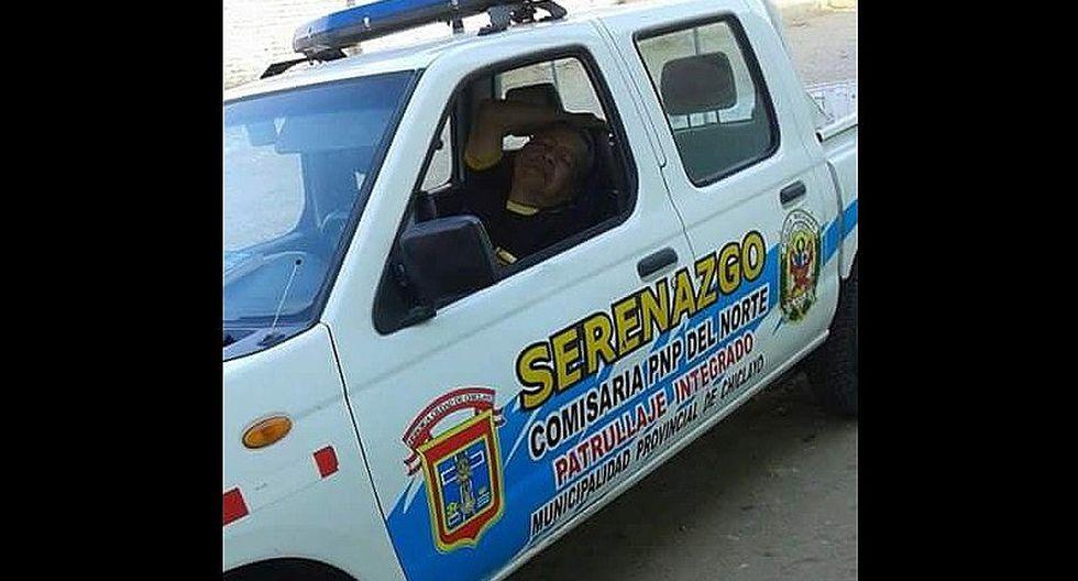Chiclayo: Sereno se queda dormido dentro de patrullero