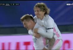 Real Madrid vs. Barcelona: Kroos, un balón detenido y un desvió para convertir el 2-0 en el clásico español | VIDEO