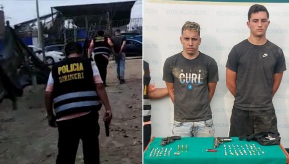 Los sujetos fueron puestos a disposición del Departamento de Investigación Criminal - Depincri PNP Puente Piedra. (Foto: PNP)