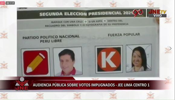Este domingo se transmitirá una audiencia de impugnación de votos de la segunda vuelta electoral. (Foto: Captura JNETV)