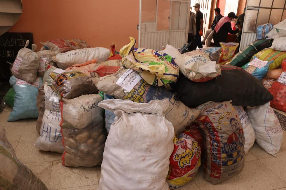 Pasco: Envían 50 toneladas de alimentos a sus familiares vulnerables por la pandemia en Lima. (Foto: Gobierno Regional de Pasco)