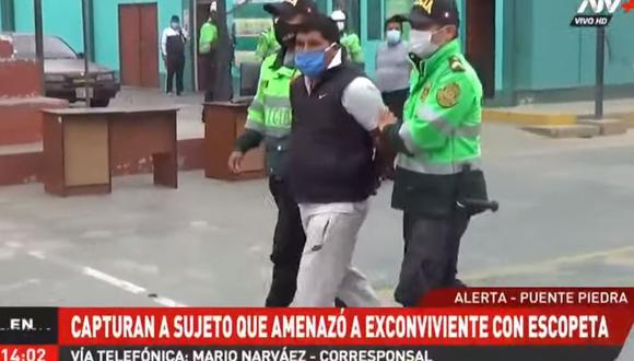 Luis Manutupa Cusiquispe fue llevado a la comisaría de  Zapallal. (Foto: ATV+)