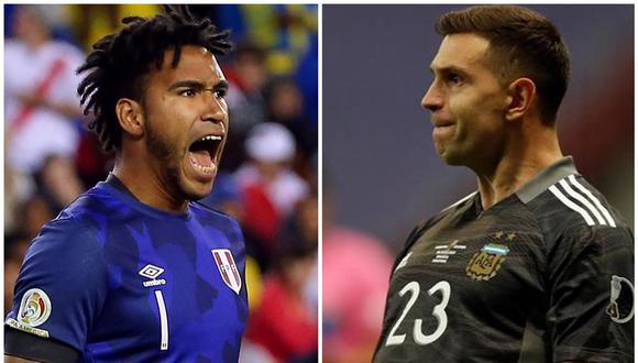 FIFA realizó encuesta con Pedro Gallese y Emiliano Martínez. (Foto: EFE/Composición)