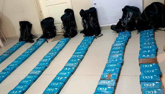 Piura: los paquetes tipo ladrillo que contenía la droga tenía un peso total de 118.560 kilogramos. (Foto: Ministerio Público)