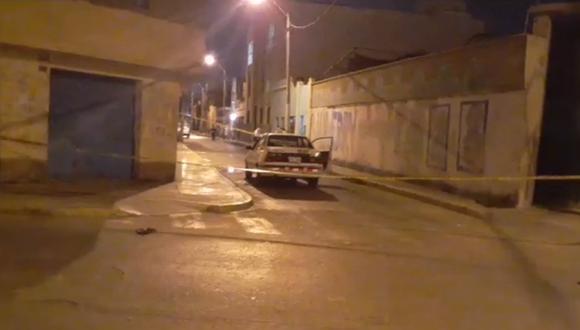 Lugar donde fue asesinado el taxista Juan Chiroque.