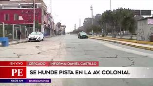 Callao: Vecinos alarmados por hundimiento de pista en la avenida Colonial
