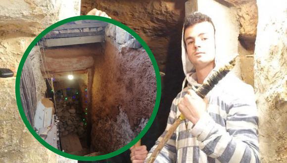 Un español es el orgulloso propietario de la cueva más famosa del Internet. Esta es su historia. | Crédito: @andresiko_16 / Twitter