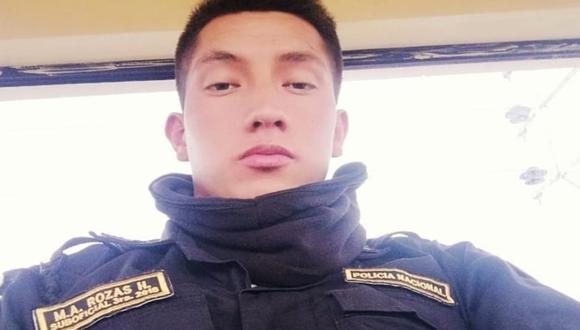 Cusco: El SO3 PNP Miguel Angel Rozas Huamanñahui (25) fue hallado muerto con un balazo en el tórax a pocos metros de su casa. (Foto Facebook)