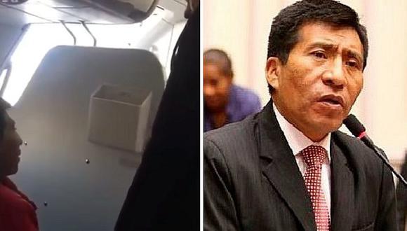 Moisés Mamani fue bajado de avión por tocamientos indebidos, según aerolínea