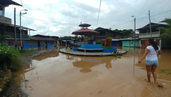 Los fenómenos naturales dejaron un lamentable panorama en el distrito de Pacalzú, en la provincia de Oxapampa. Estos hechos causaron severos daños materiales luego de inundar más de 100 viviendas en el sector (Foto: Cortesía / Junior Alcantara Cabello)