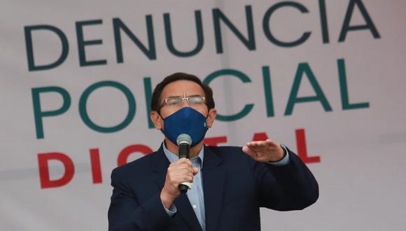 El mandatario Martín Vizcarra dio una conferencia de prensa este viernes. (Foto: Lino Chipana / @photo.gec)