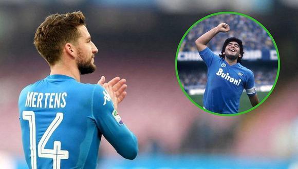 Diego Maradona felicita a jugador que lo igualó en goles con el Napoli