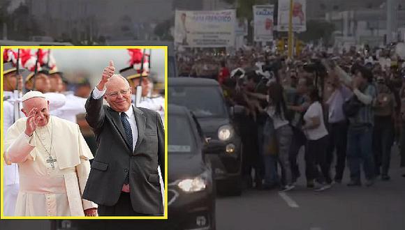 Periodistas generaron alboroto durante llegada del papa Francisco al Perú (FOTOS)