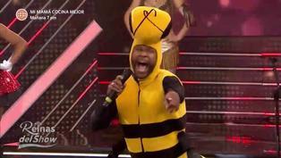 """'Giselo' ingresa con traje de abeja al set de """"Reinas del show"""" y Gisela Valcárcel lo vacila"""