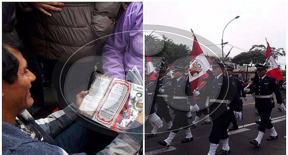 Fiestas Patrias: Familia viaja por Parada Militar, no logran sitio y realizan acto patriótico (VIDEO)