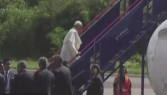 Papa Francisco le dice adiós a Puerto Maldonado y parte a Lima - EN VIVO