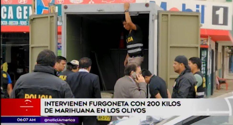 La droga y los detenidos fueron puestos a disposición del Ministerio Público. (América Noticias)