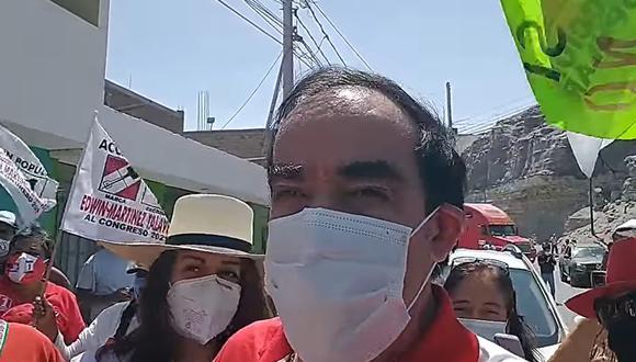 Arequipa: Candidato Lescano se queja de conductora  por llamarlo Merino (Foto: captura de video)