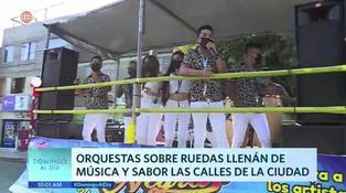 Orquestas sobre ruedas invaden las calles de Lima