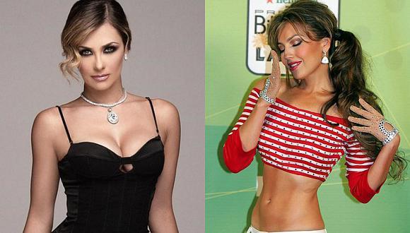 Aracely Arámbula expuso una foto donde aparece con cintura más pequeña que Thalía