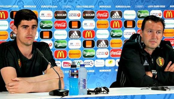 Courtois encabeza rebelión contra DT Wilmots de selección belga en crisis