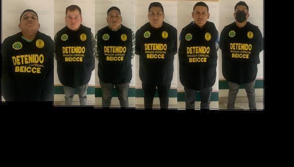 Banda criminal asaltaba a pasajeros en Puente Piedra. Todos los detenidos tienen antecedentes por delito de robo. (Foto; composición GEC)