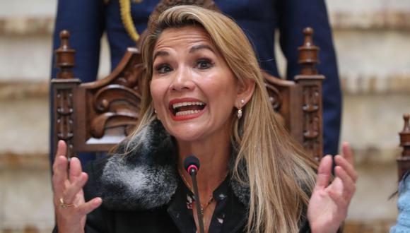 Jeanine Áñez, expresidenta interina de Bolivia. (Foto: AFP)