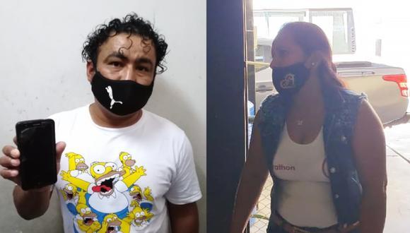Piura: Agentes del INPE intervinieron a Wilson Severiano Ayala Flores (35) y Yuliana Lizet Calderón Cruz (37)  por intentar ingresar al penal de Piura con droga y un celular, respetivamente. (Foto: Difusión)