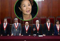Caso Keiko Fujimori: pleno del Tribunal Constitucional comenzará evaluación el martes 19
