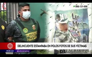 Delincuente estampaba el rostro de sus victimas asesinadas en polos