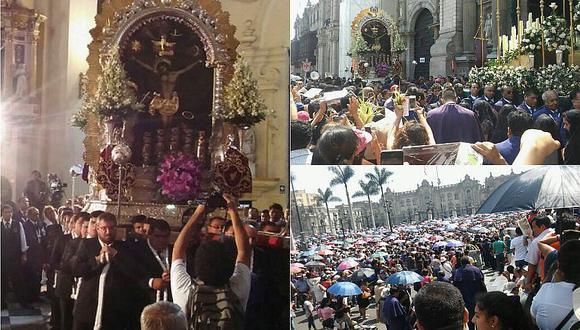 Semana Santa: Fieles siguen al Señor de los Milagros en su recorrido [FOTOS Y VIDEO]