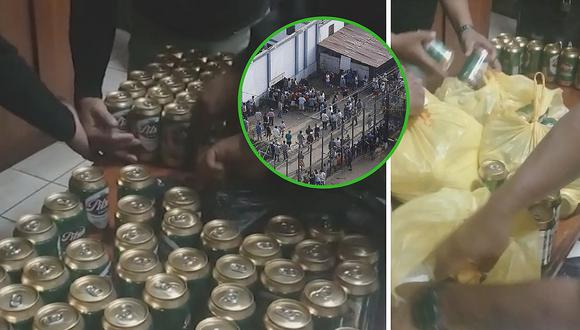 Trataron de ingresar 215 latas de cerveza a penal de Lurigancho (VIDEO)
