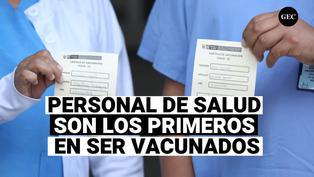 Fueron vacunados el personal de salud