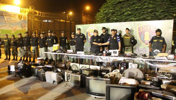 Penal de Lurigancho es declarado en emergencia por 60 días tras hallar todo esto [FOTOS]