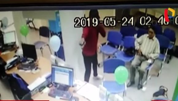 Ladrones asaltan central de telefonía en Puerto Maldonado y se llevan más de 8 mil soles | VIDEO