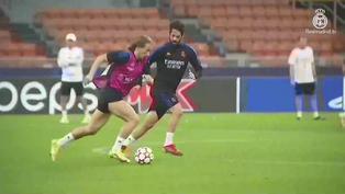 Mira el entrenamiento del Real Madrid en Milán
