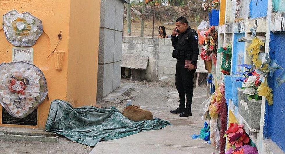 Perrito acompaña cadáver de su dueño y se echa a su lado (FOTOS)