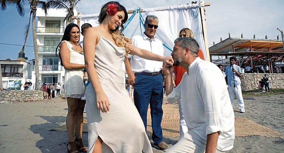 Sheyla Rojas y Pedro Moral