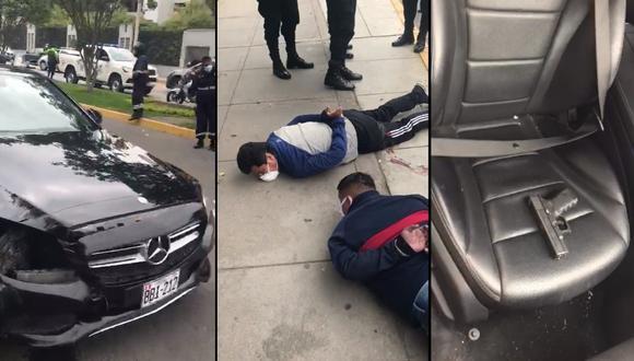 La Policía capturó a tres delincuentes tras una persecución. (PNP)